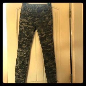 Camo skinny jean